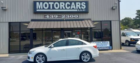 2015 Chevrolet Cruze for sale at MotorCars LLC in Wellford SC