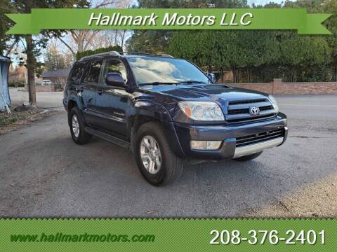 2004 Toyota 4Runner for sale at HALLMARK MOTORS LLC in Boise ID
