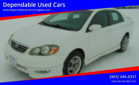2008 Toyota Corolla for sale at Dependable Used Cars in Anchorage AK