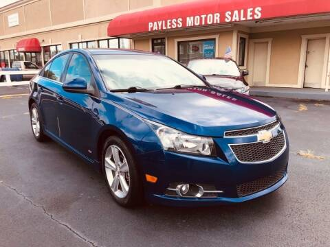 2012 Chevrolet Cruze for sale at Payless Motor Sales LLC in Burlington NC