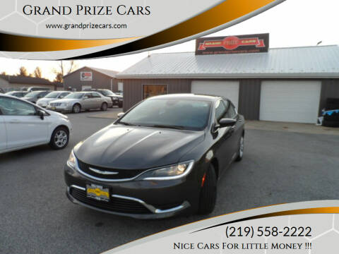 2015 Chrysler 200 for sale at Grand Prize Cars in Cedar Lake IN