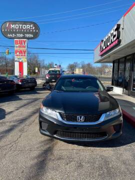 2014 Honda Accord for sale at i3Motors in Baltimore MD