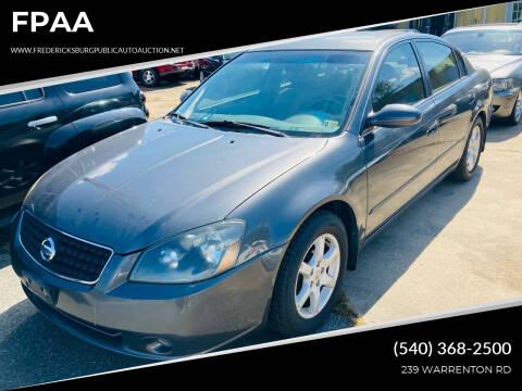 2006 Nissan Altima for sale at FPAA in Fredericksburg VA