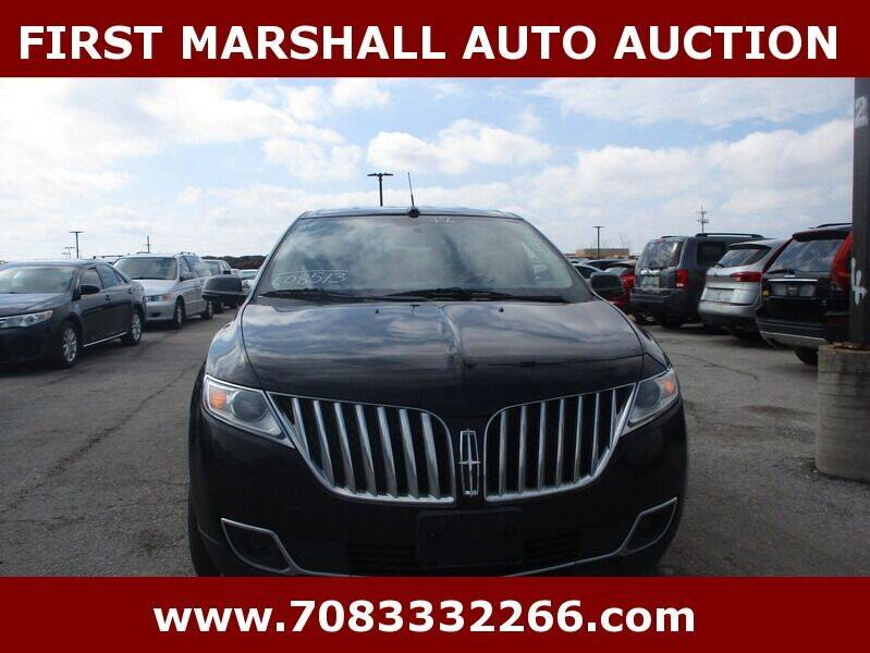 2012 Lincoln MKX for sale at First Marshall Auto Auction in Harvey IL