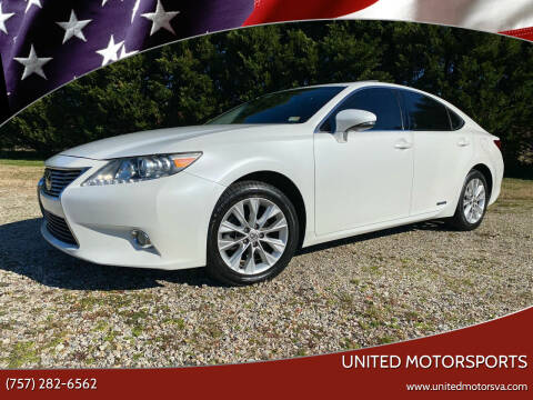 2013 Lexus ES 300h for sale at United Motorsports in Virginia Beach VA