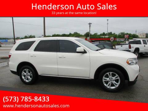 2012 Dodge Durango for sale at Henderson Auto Sales in Poplar Bluff MO