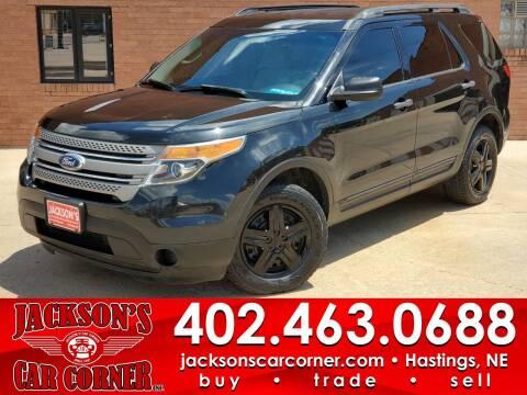 2013 Ford Explorer for sale at Jacksons Car Corner Inc in Hastings NE