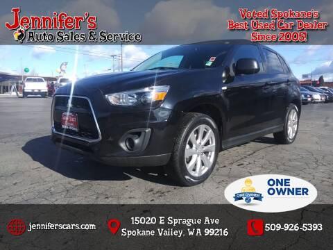 2015 Mitsubishi Outlander Sport for sale at Jennifer's Auto Sales in Spokane Valley WA