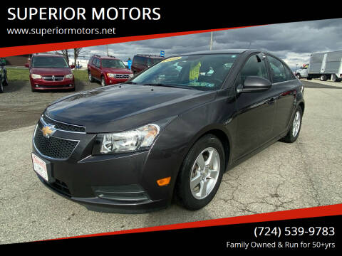 2014 Chevrolet Cruze for sale at SUPERIOR MOTORS in Latrobe PA