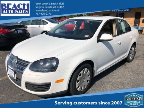 2009 Volkswagen Jetta for sale at Beach Auto Sales in Virginia Beach VA