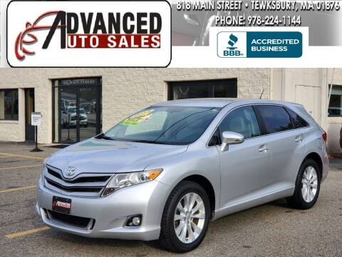 2013 Toyota Venza for sale at Advanced Auto Sales in Tewksbury MA