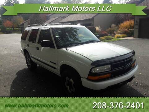2002 Chevrolet Blazer for sale at HALLMARK MOTORS LLC in Boise ID