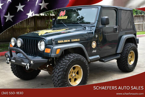 2006 Jeep Wrangler for sale at Schaefers Auto Sales in Victoria TX
