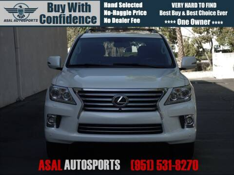 2015 Lexus LX 570 for sale at ASAL AUTOSPORTS in Corona CA