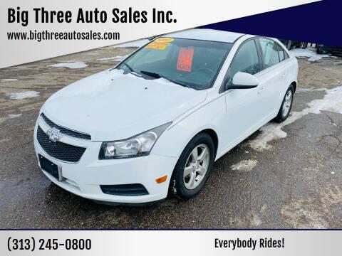 2011 Chevrolet Cruze for sale at Big Three Auto Sales Inc. in Detroit MI
