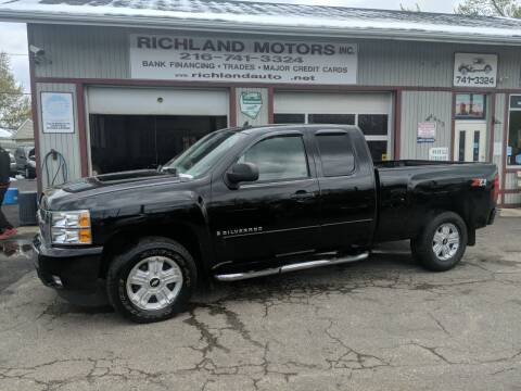 2008 Chevrolet Silverado 1500 for sale at Richland Motors in Cleveland OH