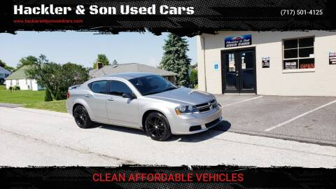 2014 Dodge Avenger for sale at Hackler & Son Used Cars in Red Lion PA
