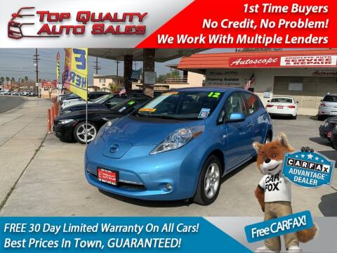 2012 Nissan LEAF for sale at Top Quality Auto Sales in Redlands CA