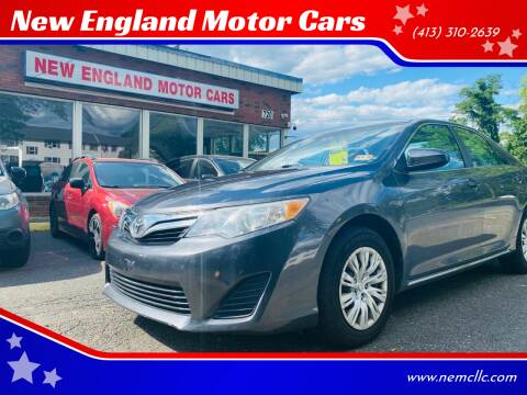2013 Toyota Camry for sale at New England Motor Cars in Springfield MA