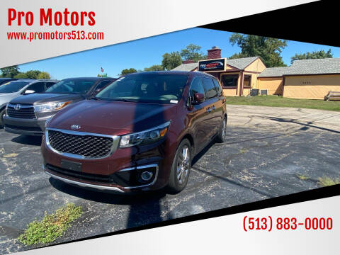 2015 Kia Sedona for sale at Pro Motors in Fairfield OH