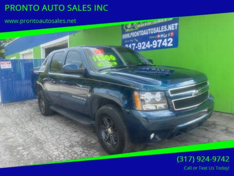 2007 Chevrolet Avalanche for sale at PRONTO AUTO SALES INC in Indianapolis IN