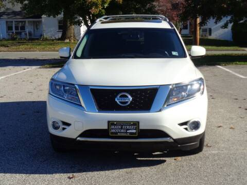 2015 Nissan Pathfinder for sale at MAIN STREET MOTORS in Norristown PA