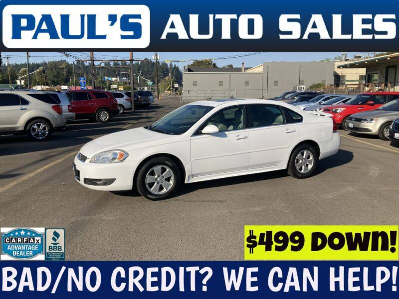 2010 Chevrolet Impala for sale at Paul's Auto Sales in Eugene OR