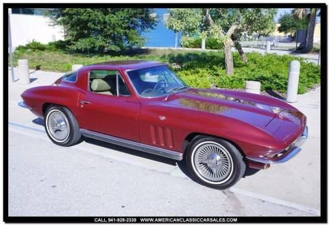 1966 Chevrolet Corvette for sale at American Classic Car Sales in Sarasota FL