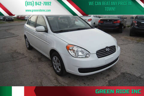 2010 Hyundai Accent for sale at Green Ride Inc in Nashville TN