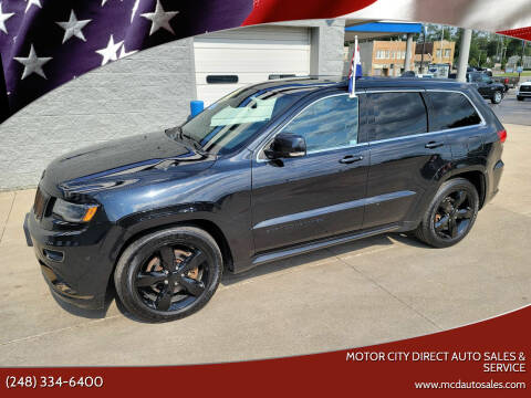 2015 Jeep Grand Cherokee for sale at Motor City Direct Auto Sales & Service in Pontiac MI