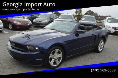 2010 Ford Mustang for sale at Georgia Import Auto in Alpharetta GA