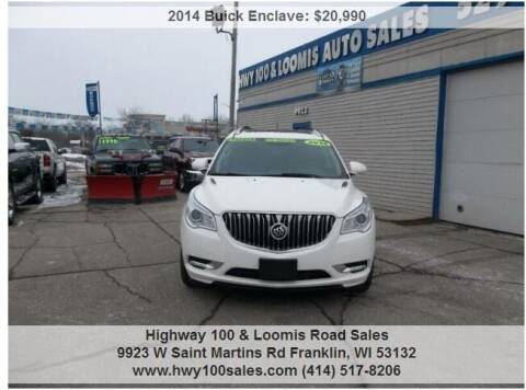 2014 Buick Enclave for sale at Highway 100 & Loomis Road Sales in Franklin WI