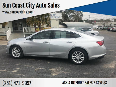 2017 Chevrolet Malibu for sale at Sun Coast City Auto Sales in Mobile AL