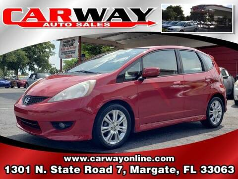 2010 Honda Fit for sale at CARWAY Auto Sales in Margate FL