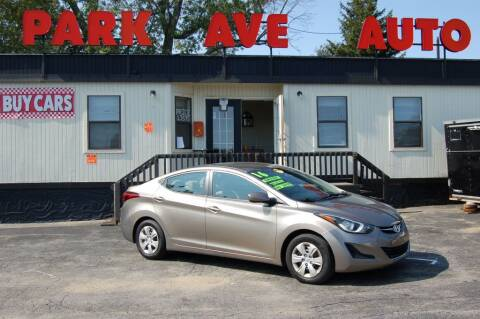 2016 Hyundai Elantra for sale at Park Ave Auto Inc. in Worcester MA
