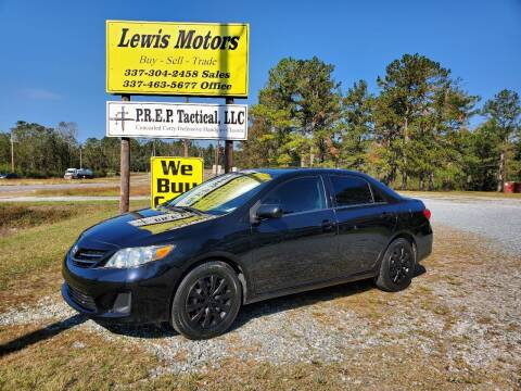 2013 Toyota Corolla for sale at Lewis Motors LLC in Deridder LA