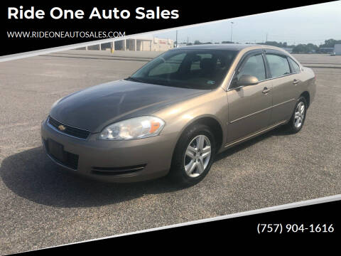 2006 Chevrolet Impala for sale at Ride One Auto Sales in Norfolk VA