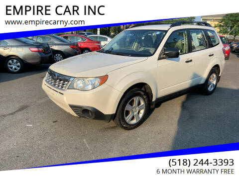 2012 Subaru Forester for sale at EMPIRE CAR INC in Troy NY