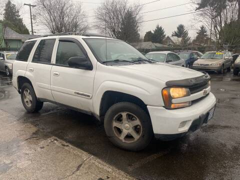 2004 Chevrolet TrailBlazer for sale at Blue Line Auto Group in Portland OR