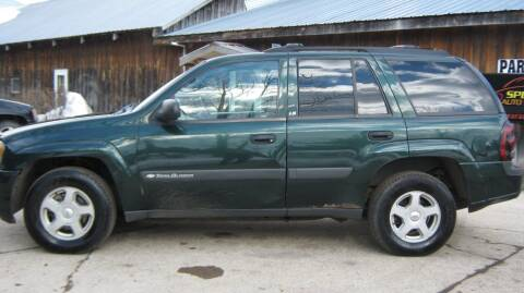 2003 Chevrolet TrailBlazer for sale at Spear Auto Sales in Wadena MN