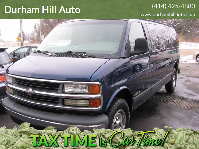 2000 Chevrolet Express Passenger for sale at Durham Hill Auto in Muskego WI