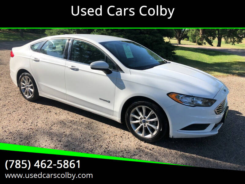 2017 Ford Fusion Hybrid for sale at Used Cars Colby in Colby KS