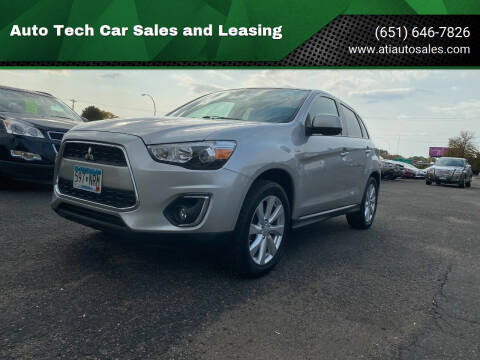 2014 Mitsubishi Outlander Sport for sale at Auto Tech Car Sales and Leasing in Saint Paul MN