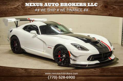 2016 Dodge Viper for sale at Nexus Auto Brokers LLC in Marietta GA