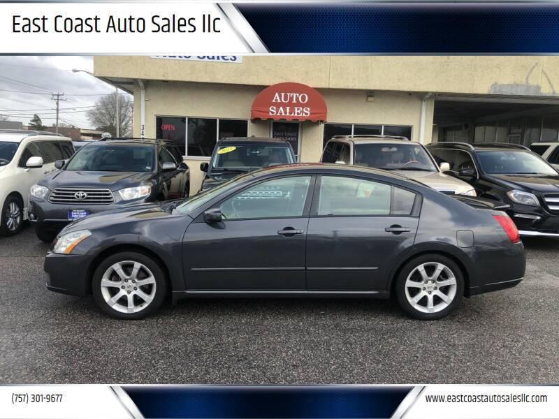 2007 Nissan Maxima for sale at East Coast Auto Sales llc in Virginia Beach VA