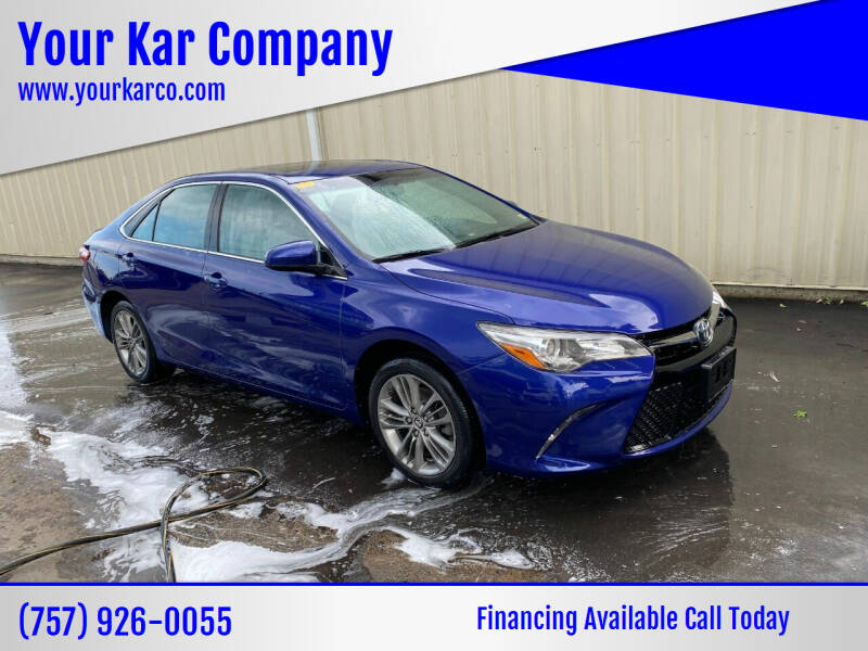 2016 Toyota Camry for sale at Your Kar Company in Norfolk VA