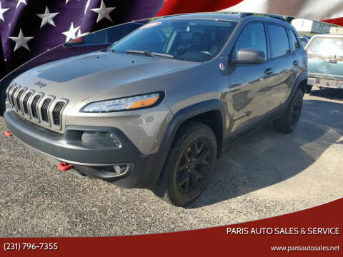 2016 Jeep Cherokee for sale at Paris Auto Sales & Service in Big Rapids MI