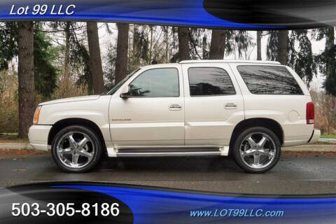 2004 Cadillac Escalade for sale at LOT 99 LLC in Milwaukie OR