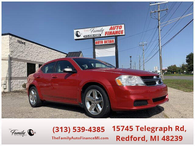 2013 Dodge Avenger for sale at The Family Auto Finance in Redford MI