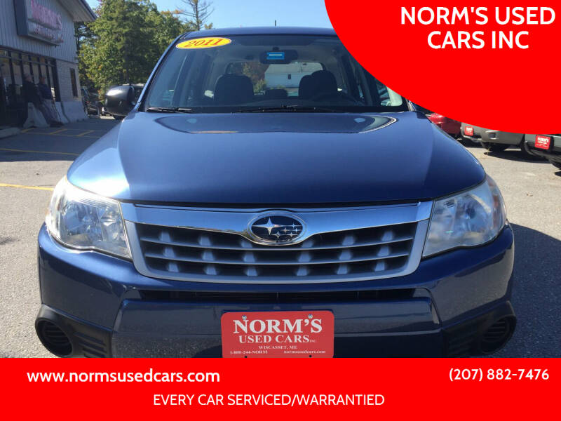 2011 Subaru Forester for sale at NORM'S USED CARS INC in Wiscasset ME